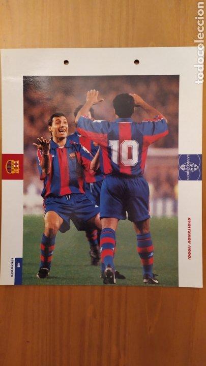 LÁMINA DE STOICHKOV DE LA COLECCIÓN EL GRAN LIBRO DEL BARÇA DE LA VANGUARDIA. FC BARCELONA (Coleccionismo Deportivo - Documentos de Deportes - Otros)