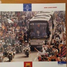 Coleccionismo deportivo: LÁMINA SOMOS CAMPEONES DE LA COLECCIÓN EL GRAN LIBRO DEL BARÇA DE LA VANGUARDIA. FC BARCELONA. Lote 213122548