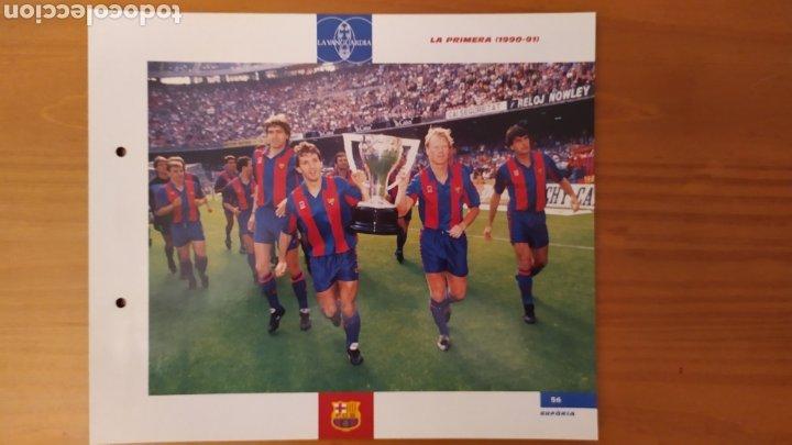 LÁMINA LA PRIMERA (1990/91) DE LA COLECCIÓN EL GRAN LIBRO DEL BARÇA DE LA VANGUARDIA. FC BARCELONA (Coleccionismo Deportivo - Documentos de Deportes - Otros)