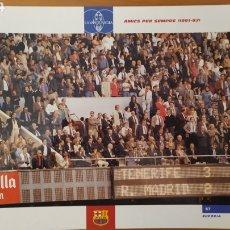 Coleccionismo deportivo: LÁMINA AMIGOS PARA SIEMPRE (1991/92) COLECCIÓN EL GRAN LIBRO DEL BARÇA DE LA VANGUARDIA FC BARCELONA. Lote 213122622