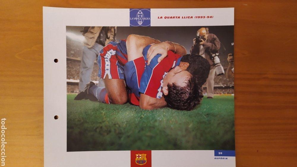 LÁMINA LA CUARTA LIGA(1993/94) DE LA COLECCIÓN EL GRAN LIBRO DEL BARÇA DE LA VANGUARDIA FC BARCELONA (Coleccionismo Deportivo - Documentos de Deportes - Otros)