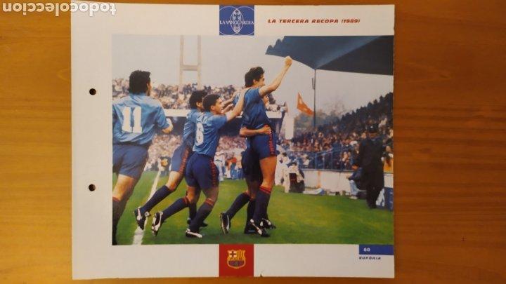LÁMINA LA TERCERA RECOPA 1989 DE LA COLECCIÓN EL GRAN LIBRO DEL BARÇA DE LA VANGUARDIA FC BARCELONA (Coleccionismo Deportivo - Documentos de Deportes - Otros)