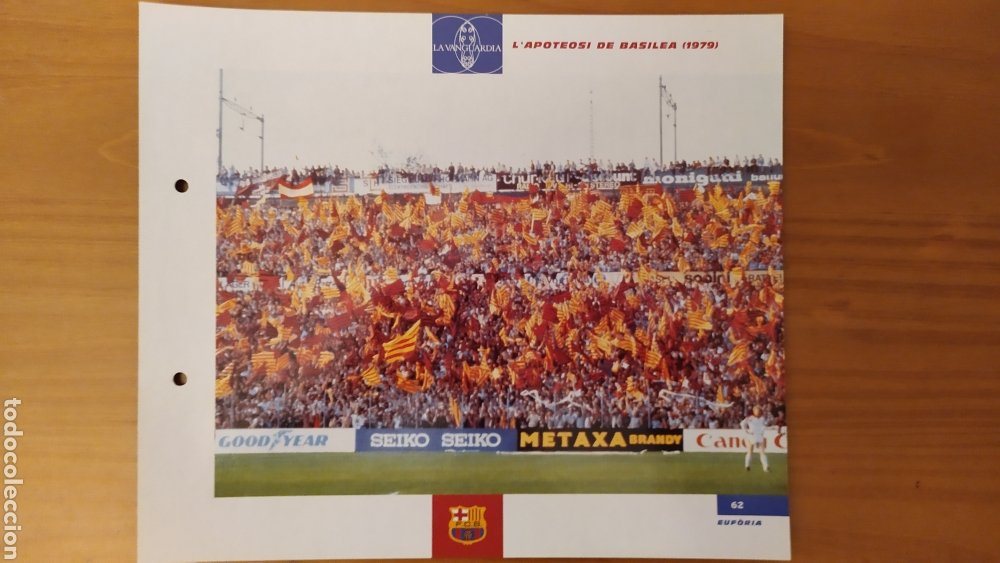 LÁMINA LA APOTEOSIS DE BASILEA 1979 COLECCIÓN EL GRAN LIBRO DEL BARÇA DE LA VANGUARDIA FC BARCELONA (Coleccionismo Deportivo - Documentos de Deportes - Otros)