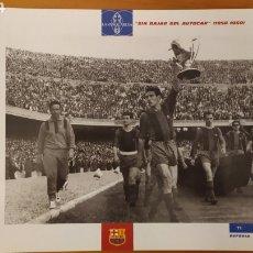 Coleccionismo deportivo: LÁMINA SIN BAJAR DEL AUTOCAR 1958/60 COLECCIÓN EL GRAN LIBRO DEL BARÇA DE LA VANGUARDIA FC BARCELONA. Lote 213122800