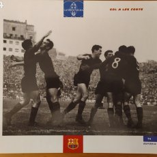 Coleccionismo deportivo: LÁMINA GOL EN LES CORTS DE LA COLECCIÓN EL GRAN LIBRO DEL BARÇA DE LA VANGUARDIA. FC BARCELONA. Lote 213123530