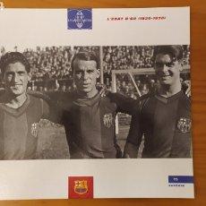 Coleccionismo deportivo: LÁMINA LA EDAD DE ORO 1920/1928 COLECCIÓN EL GRAN LIBRO DEL BARÇA DE LA VANGUARDIA. FC BARCELONA. Lote 213123540