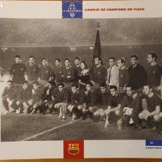 Coleccionismo deportivo: LÁMINA CAMPEÓN DE CAMPEONES DE FERIAS COLECCIÓN EL GRAN LIBRO DEL BARÇA LA VANGUARDIA FC BARCELONA. Lote 213123933
