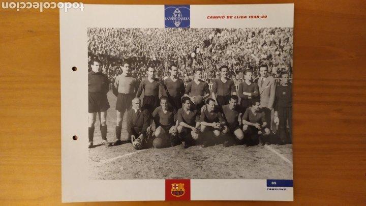 LÁMINA CAMPEÓN DE LIGA 1948/49 DE LA COLECCIÓN EL GRAN LIBRO DEL BARÇA DE LA VANGUARDIA FC BARCELONA (Coleccionismo Deportivo - Documentos de Deportes - Otros)