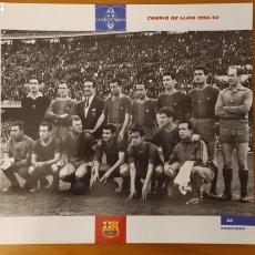 Coleccionismo deportivo: LÁMINA CAMPEÓN DE LIGA 1958/59 DE LA COLECCIÓN EL GRAN LIBRO DEL BARÇA DE LA VANGUARDIA FC BARCELONA. Lote 213123990