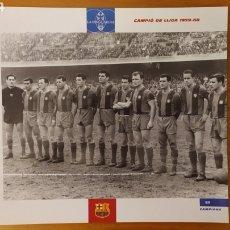 Coleccionismo deportivo: LÁMINA CAMPEÓN DE LIGA 1959/60 DE LA COLECCIÓN EL GRAN LIBRO DEL BARÇA DE LA VANGUARDIA FC BARCELONA. Lote 213124005