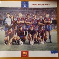 Coleccionismo deportivo: LÁMINA CAMPEÓN DE LIGA 1984/85 DE LA COLECCIÓN EL GRAN LIBRO DEL BARÇA DE LA VANGUARDIA FC BARCELONA. Lote 213124020