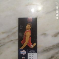 Coleccionismo deportivo: NBA ENTRADA ORIGINAL LOS ÁNGELES CLIPPERS VS MIAMI HEAT 2011. Lote 213341271