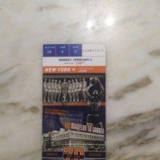 Coleccionismo deportivo: NBA ENTRADA ORIGINAL NEW YORK KNICKS VS LOS ÁNGELES LAKERS. Lote 213342187