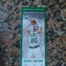 Coleccionismo deportivo: NBA ENTRADA ORIGINAL BOSTON CELTICS VS RAPTORS. Lote 213342511