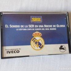 Coleccionismo deportivo: LA SÉPTIMA COPA DE EUROPA DEL REAL MADRID. CASETTE. Lote 213425150
