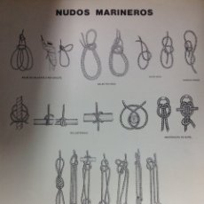 Coleccionismo deportivo: NUDOS MARINEROS. 4 LÁMINAS DE 50X35CM.GRAN FORMATO, ESPLÉNDIDOS DIBUJOS.. Lote 213829352