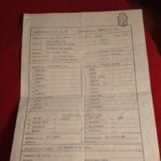 Coleccionismo deportivo: HOJA DE ALINEACIONES PARTIDO BURGOS - ATHLETIC CLUB DE BILBAO. TEMPORADA 91-92. Lote 214858792