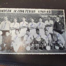 Collezionismo sportivo: POSTAL REAL MADRID CAMPEON IV COPA FERIAS 1961. Lote 215716403