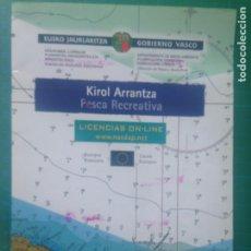 Coleccionismo deportivo: KIROL ARRANTZA - PESCA RECREATIVA - LICENCIAS ON LINE - GOBIERNO VASCO. Lote 217541477