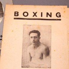 Coleccionismo deportivo: TOMAS THOMAS - BOXEO - LOTE DE DOCUMENTACIÓN. Lote 217705858