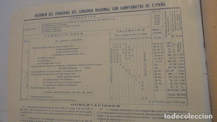 Coleccionismo deportivo: FEDERACION DE TIRO NACIONAL ESPAÑA.GRANADA 1949.POLIGONO LAS CONEJERAS.HAMMERLI CIA.STAR.LLAMA. - Foto 2 - 218048222