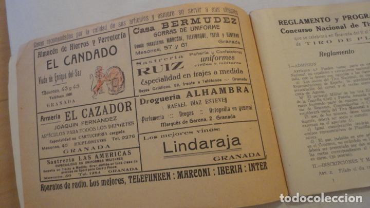 Coleccionismo deportivo: FEDERACION DE TIRO NACIONAL ESPAÑA.GRANADA 1949.POLIGONO LAS CONEJERAS.HAMMERLI CIA.STAR.LLAMA. - Foto 4 - 218048222