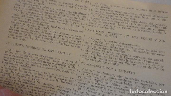 Coleccionismo deportivo: FEDERACION DE TIRO NACIONAL ESPAÑA.GRANADA 1949.POLIGONO LAS CONEJERAS.HAMMERLI CIA.STAR.LLAMA. - Foto 6 - 218048222