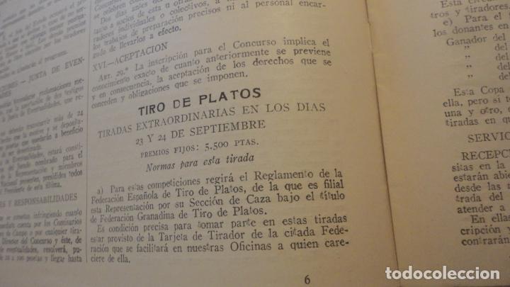 Coleccionismo deportivo: FEDERACION DE TIRO NACIONAL ESPAÑA.GRANADA 1949.POLIGONO LAS CONEJERAS.HAMMERLI CIA.STAR.LLAMA. - Foto 7 - 218048222