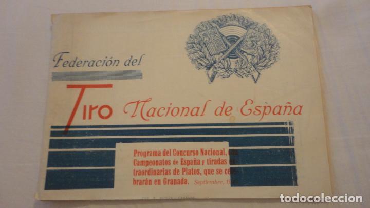 FEDERACION DE TIRO NACIONAL ESPAÑA.GRANADA 1949.POLIGONO LAS CONEJERAS.HAMMERLI CIA.STAR.LLAMA. (Coleccionismo Deportivo - Documentos de Deportes - Otros)