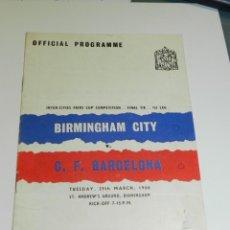 Coleccionismo deportivo: C.F.BARCELONA PROGRAMA INTERNACIONAL - BIRMINGHAM CITY - C.F.BARCELONA 1960, MUY ILUSTRADO. Lote 218110632