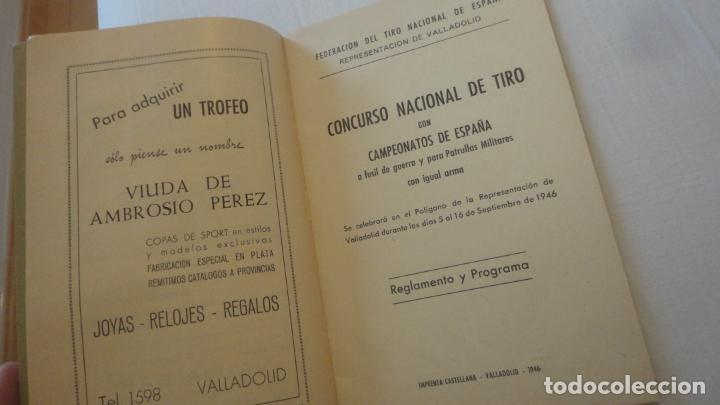 Coleccionismo deportivo: REGLAMENTO.CONCURSO NACIONAL DE TIRO.REPRESENTACION VALLADOLID.FUSIL GUERRA.1946 - Foto 4 - 218130488