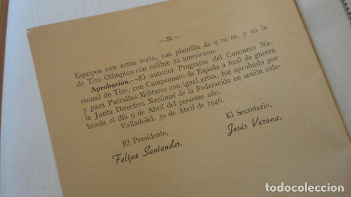 Coleccionismo deportivo: REGLAMENTO.CONCURSO NACIONAL DE TIRO.REPRESENTACION VALLADOLID.FUSIL GUERRA.1946 - Foto 6 - 218130488