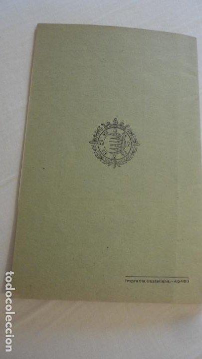 Coleccionismo deportivo: REGLAMENTO.CONCURSO NACIONAL DE TIRO.REPRESENTACION VALLADOLID.FUSIL GUERRA.1946 - Foto 9 - 218130488
