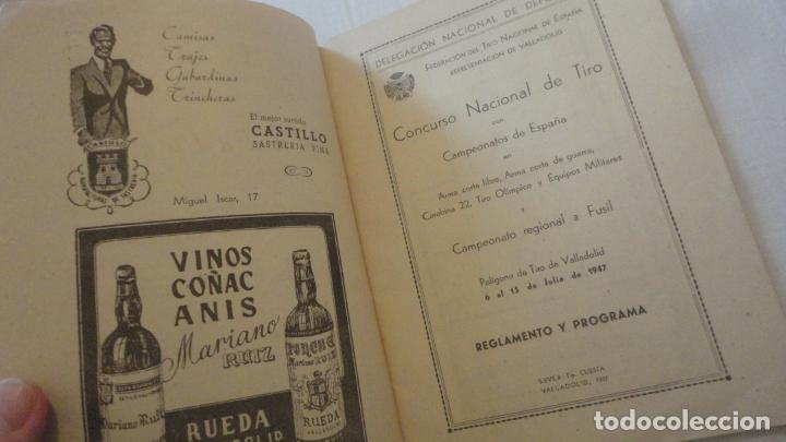 Coleccionismo deportivo: REGLAMENTO-PROGRAMA CONCURSO NACIONAL DE TIRO.ARMA CORTA DE GUERRA.TIRO OLIMPICO.VALLADOLID 1947 - Foto 3 - 218156381
