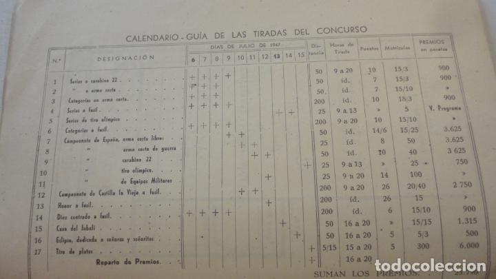 Coleccionismo deportivo: REGLAMENTO-PROGRAMA CONCURSO NACIONAL DE TIRO.ARMA CORTA DE GUERRA.TIRO OLIMPICO.VALLADOLID 1947 - Foto 5 - 218156381