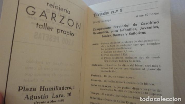 Coleccionismo deportivo: PROGRAMA.COMPETICIONES DEPORTIVAS TIRO OLIMPICO ESPAÑOL.CARABINA NEUMATICA.PISTOLA 9MM.GRANADA 1978 - Foto 3 - 218156903