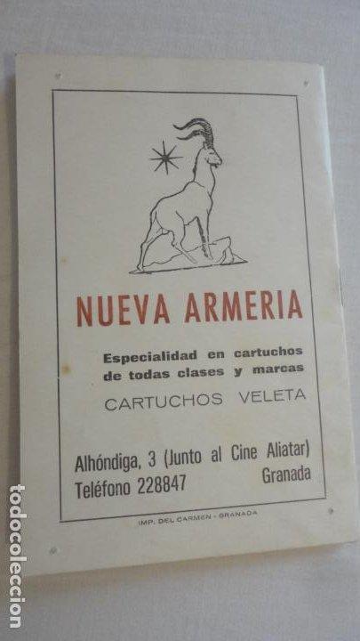 Coleccionismo deportivo: PROGRAMA.COMPETICIONES DEPORTIVAS TIRO OLIMPICO ESPAÑOL.CARABINA NEUMATICA.PISTOLA 9MM.GRANADA 1978 - Foto 7 - 218156903