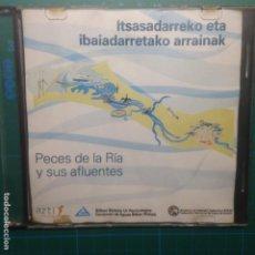 Coleccionismo deportivo: ITSASADARREKO ETA IBAIADARRETAKO ARRAINAK - PECES DE LA RIA Y SUS AFLUENTES - AZTI - CD. Lote 218322665