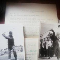 Coleccionismo deportivo: 2 FOTOGRAFÍAS ANGEL MIGUEL GUTIÉRREZ GOLF Y SEBASTIÁN MIGUEL AÑIS 50. Lote 219254630