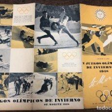 Coleccionismo deportivo: CATALOGO V JUEGOS OLIMPICOS DE INVIERNO DE 1948. SUIZA. Lote 219293888