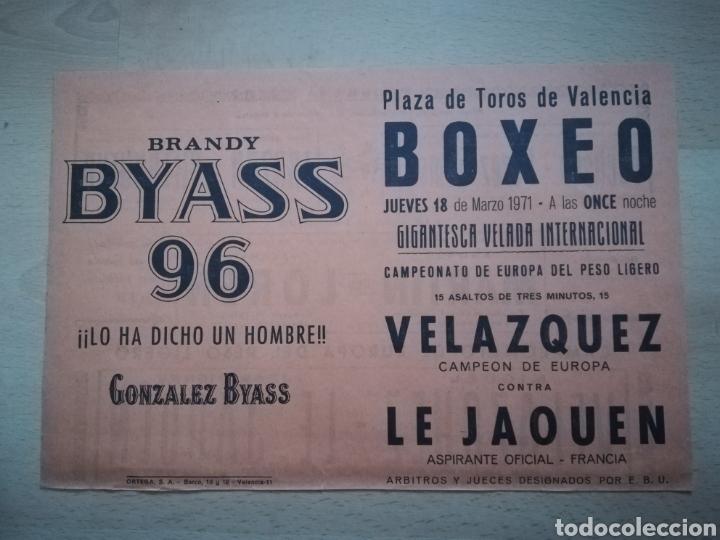 BOXEO. CAMPEONATO DE EUROPA DEL PESO LIGERO. PROGRAMA DE AQUELLA VELADA (18/3/1971). (Coleccionismo Deportivo - Documentos de Deportes - Otros)