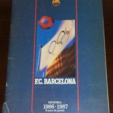 Coleccionismo deportivo: MEMÒRIA 1986-1987 9 ANYS DE GESTIÒ. FUTBOL CLUB BARCELONA. EN CATALÀ.. Lote 219989832