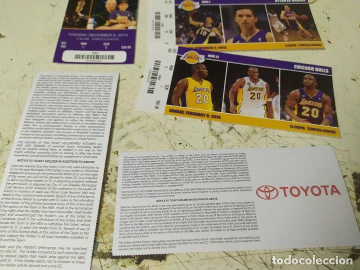 Coleccionismo deportivo: 5 tickes de entrada para los ángeles lakers kobi Brian gasol usa enteros baloncesto - Foto 3 - 221086442