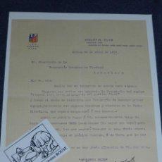 Coleccionismo deportivo: ATH BILBAO - CARTA ORIGINAL DEL ATHLETIC CLUB 1916 FIRMADA ORIGINAL PRESIDENTE ALEJANDRO DE LA SOTA. Lote 221254476