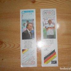 Coleccionismo deportivo: LOTE 2 MARCA PÁGINAS BECKENBAUER KLINSMANN. Lote 221678973