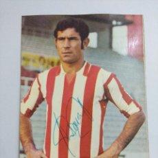 Coleccionismo deportivo: POSTAL FUTBOL/ALFREDO PASCUAL SANZ/REAL SPORTING DE GIJON AÑOS 70.. Lote 221751513