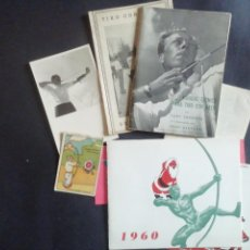 Coleccionismo deportivo: TIRO CON ARCO. MANUALES, CRISTMAS, FOTO Y CROMO. Lote 221777058