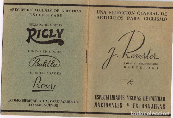 1949 CATÁLOGO ARTÍCULOS PARA CICLISMO J. REVERTER BARCELONA ESPECIALIDADES NACIONALES Y EXTRANJERAS (Coleccionismo Deportivo - Documentos de Deportes - Otros)