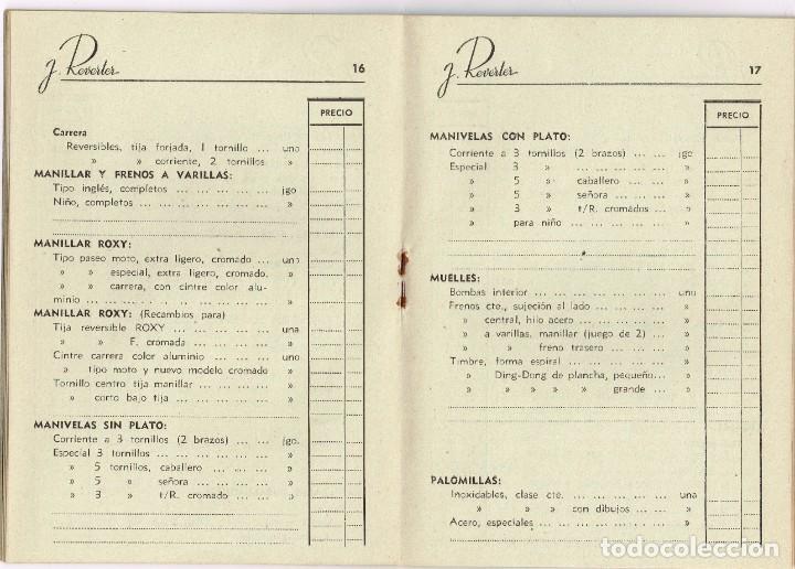 Coleccionismo deportivo: 1949 CATÁLOGO ARTÍCULOS PARA CICLISMO J. Reverter Barcelona Especialidades Nacionales y Extranjeras - Foto 2 - 221913330