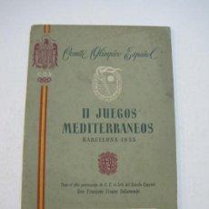 Coleccionismo deportivo: JUEGOS OLIMPICOS-BARCELONA 1955-II JUEGOS MEDITERRANEOS-PROGRAMA BOXEO-VER FOTOS-(K-797). Lote 221950656